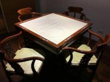 [95成新] 花梨木麻將桌+4椅桌子近乎全新