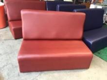 [全新] ZX328-2全新酒紅色皮沙發雙人沙發全新