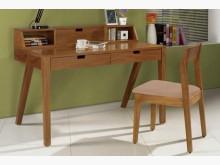 [全新] 2001824-1經典胡桃書桌電腦桌/椅全新