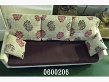 0600206.雙色布沙發3人單人沙發有輕微破損