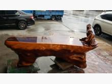 [9成新] LG61003紅豆杉達摩雕刻桌桌子無破損有使用痕跡