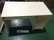 0700906.白色電腦書桌電腦桌/椅有輕微破損