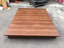 胡桃色標準雙人5x6.2尺掀床雙人床架無破損有使用痕跡