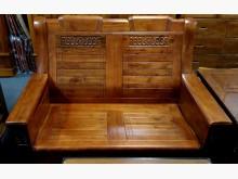 [全新] 吉得堡香樟木雙人木椅 桃園區免運木製沙發全新