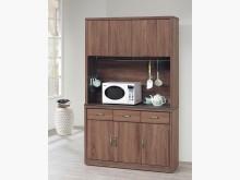[全新] 柚木色4尺火燒石餐櫃$12800碗盤櫥櫃全新
