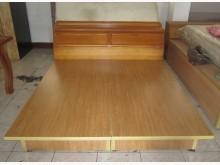 三合搬家物流(全檜木6尺床頭組)雙人床架無破損有使用痕跡