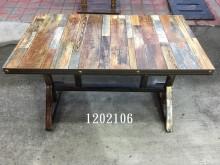 [全新] 1202106.工業風#4長方桌餐桌全新