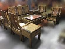 [全新] 樂居二手LG1109紫檀木沙發組木製沙發全新