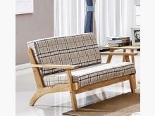 [全新] 牛津方格木扶手雙人布沙發雙人沙發全新