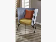 [全新] 杰倫雙色灰藍皮單椅單人沙發全新