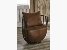 [全新] 文樂咖啡仿舊布鐵藝單椅單人沙發全新