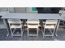 [8成新] 樂居C1229AEJJ三人課桌椅書桌/椅有輕微破損
