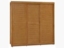 [全新] 艾莉絲柚木7尺推門衣櫃33600衣櫃/衣櫥全新