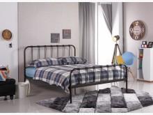 [全新] 約瑟夫簡約5尺鐵床台雙人床架全新