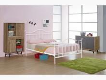 [全新] 萊恩白色5尺鐵床台雙人床架全新