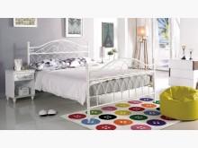 [全新] 潔絲米純白5尺鐵床台雙人床架全新