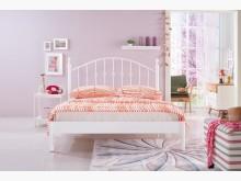 [全新] 菲柏簡約5尺白色鐵床台雙人床架全新