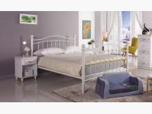 [全新] 凱特兒5尺白色鐵床台雙人床架全新