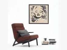 [全新] 墨爾紅色休閒主人椅單人沙發全新