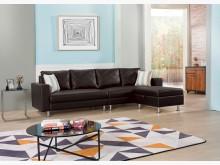 [全新] 荷蘭L型黑色皮沙發*不含茶几L型沙發全新