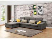 [全新] 伊麻L型灰色布沙發L型沙發全新