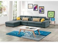 [全新] 伊麻L型藍色布沙發L型沙發全新