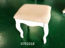 全新/庫存伊麗莎白色亞麻布化妝椅其它桌椅全新