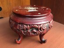 非凡 紅花梨木鑲貝五爪藝品架收藏擺飾無破損有使用痕跡