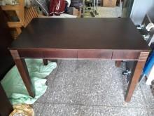 [9成新] 4尺咖啡色實木書桌書桌/椅無破損有使用痕跡