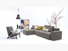[全新] 莫爾銀灰L型布沙發$35800L型沙發全新
