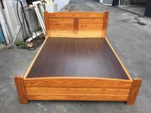 非凡二手松木實木標準雙人5尺床架雙人床架無破損有使用痕跡