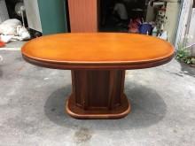 非凡二手家具 柚木色實木餐桌餐桌無破損有使用痕跡