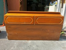 非凡二手家具 樟木色雙人5尺床架床頭櫃無破損有使用痕跡