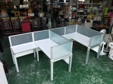 合運二手傢俱震旦兩人屏風桌401辦公桌有輕微破損