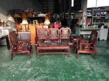 合運二手傢俱~雙龍實木沙發含茶几木製沙發有輕微破損