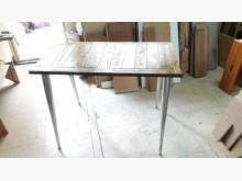 [全新] 再生傢俱~實木鐵座餐桌.4千免餐桌全新