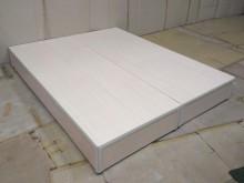 全新5尺白橡色三分床底 桃園免運雙人床架有輕微破損