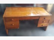 [8成新] E717AJH 原木色六抽書桌書桌/椅有輕微破損