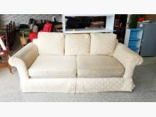 [8成新] 香榭*高雅簡約緹花布 三人座沙發雙人沙發有輕微破損
