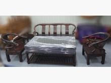 [8成新] A90502 實木1+1+3沙發木製沙發有輕微破損
