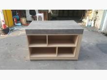 台中鐵刀木色工業風系統中島櫃書櫃/書架無破損有使用痕跡