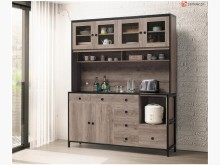 [全新] 喬蒂絲 古橡色5.3尺餐櫃碗盤櫥櫃全新
