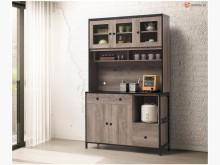 [全新] 喬蒂絲 古橡色4尺餐櫃碗盤櫥櫃全新