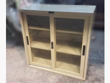 [8成新] C1016AJE1三尺玻璃門鐵櫃辦公櫥櫃有輕微破損