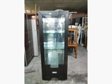 非凡二手 胡桃色2.3尺玻璃酒櫃其它櫥櫃無破損有使用痕跡