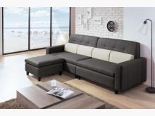 [全新] 帝姆L型貓抓皮沙發L型沙發全新