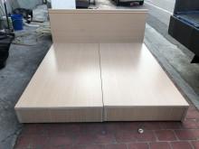 [95成新] 鑫勝2手-白橡6呎木心板6分床組雙人床架近乎全新