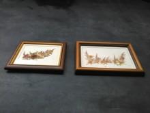 [9成新] 連欣二手傢俱-素雅押花畫幅二款其它家飾無破損有使用痕跡