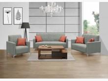 [全新] 神達灰色貓抓皮沙發組*不含茶几多件沙發組全新