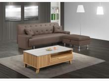 [全新] 奧舟咖啡色貓抓皮L型沙發L型沙發全新